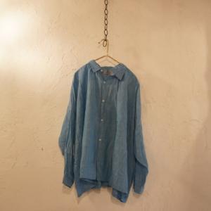 ICHI Antiquite's ソリッドカラーリネンシャツ ターコイズ|abracadabra