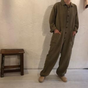 ICHI Antiquite's(イチアンティークス) リネンワーカージャンプスーツ ベージュ|abracadabra