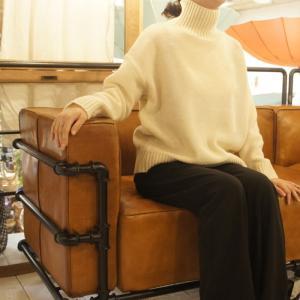 ICHI Antiquite's メリヤスタートルセーター オフホワイト|abracadabra