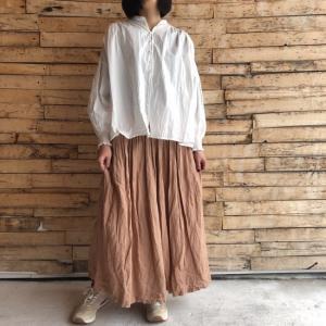 ichi Antiquite's スモークカラーリネンスカート ベージュ|abracadabra