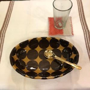 美濃焼 シェル型カレー皿 ドット|abracadabra