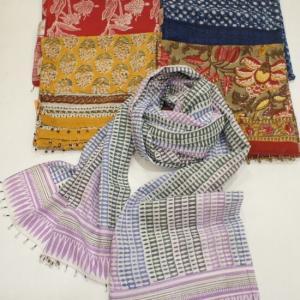 ANOKHI(アノキ) 木版染め ロングスカーフ 全5種類|abracadabra