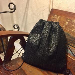 Coquette(コケット) テオスネークウールナップサック ブラック|abracadabra