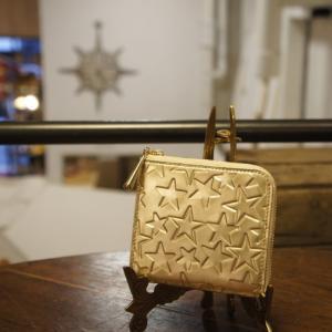 Coquette(コケット) エトワールZIPコンパクト財布 GOLD|abracadabra