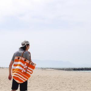 Elliot Mann NewYork Satch Bag ボーダートートバッグL オレンジ|abracadabra