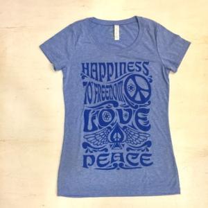 ハンドプリントTシャツ LOVE&PEACE|abracadabra