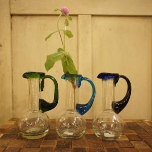 リサイクルガラス一輪挿し 3色|abracadabra