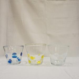 リサイクルガラス 水玉タンブラー 3色|abracadabra
