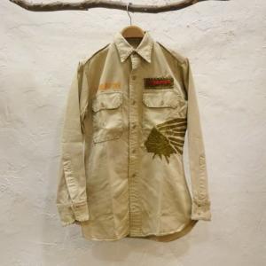 中国長城 USA 刺繍リメイクシャツ|abracadabra