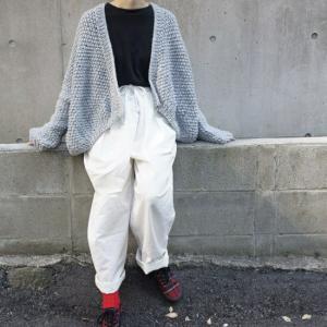 Hand Made Knit スローチルーズニットカーディガン グレー|abracadabra