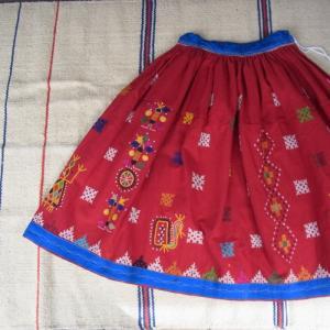 グジャラート刺繍ギャザーロングスカート TYPE:C|abracadabra