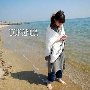 TOPANGA  フリンジ大判ショール ゴア a3-j12-22-goa|abracadabra