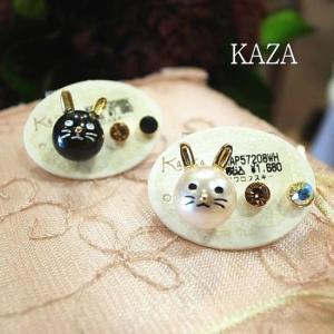 Kaza Japan ウサギボールピアスSET 全2色|abracadabra