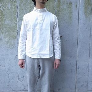 LOLO ロロ 定番プルオーバーシャツ オフホワイト LS-3|abracadabra