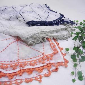 LUNA LLENA(ルナレナ) ステッチ刺繍スカーフ 全3色|abracadabra