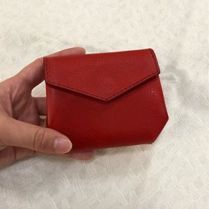 SARANAM (サラナン) ミネルバレザーアコーディオン財布 RED abracadabra