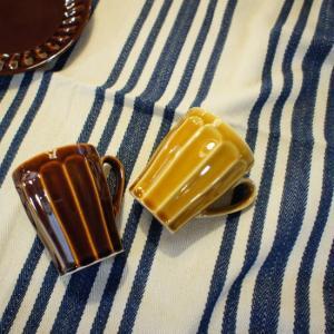 美濃焼 けずりマグカップ 全2色|abracadabra
