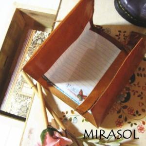 mirasol India バッファローレザーノートカバー|abracadabra