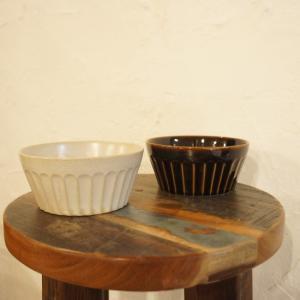 美濃焼 濃釉縞 パック小鉢 Mサイズ/2色 abracadabra