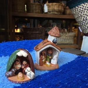 素焼きの置物 キリスト誕生D|abracadabra