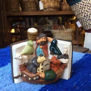 素焼きの置物 ノアの方舟|abracadabra