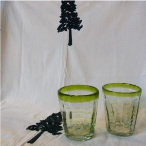 吹きガラス つぶつぶタンブラー グリーン|abracadabra
