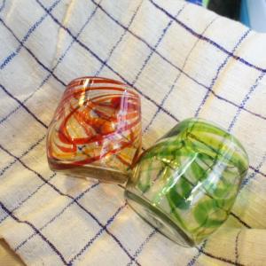リサイクルガラス スパイラルロックグラス 全2色|abracadabra