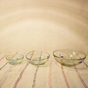 手吹きガラス ドットボウル Lサイズ|abracadabra