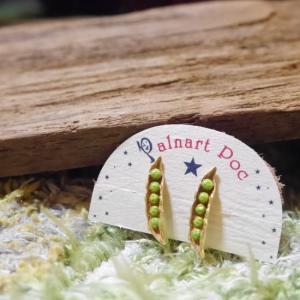Palnart Poc(パルナートポック) 枝豆イヤリング|abracadabra