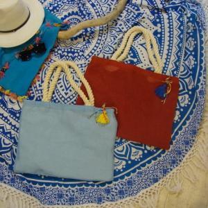 カラフルジュートビーチバッグ 全2色|abracadabra