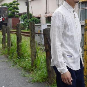 RIDING HIGH Japan ミリタリードットシャツ オフホワイト RVW230|abracadabra
