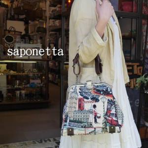 Saponetta(サポネッタ) FILI フィリー口金ハンドバッグ ロンドン柄   約2ヶ月でのお届け|abracadabra
