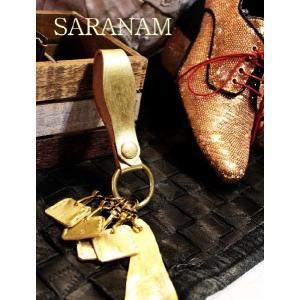 SARANAM サラナン  レザーキーリング ゴールド 約6か月でのお届け|abracadabra