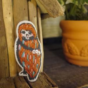 tamao(タマオ) フクロウブローチ|abracadabra