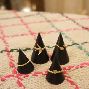 TOPANGA Accessories フライングバードリング/ゴールド 4本セット abracadabra