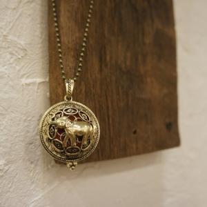 TOPANGA Accessories ディフューザーネックレス Elephant/A.GOLD abracadabra