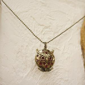 TOPANGA Accessories ディフューザーネックレス OWL/BRONZE abracadabra