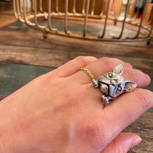 TOPANGA Accessories フレンチブルドッグリング シルバー abracadabra
