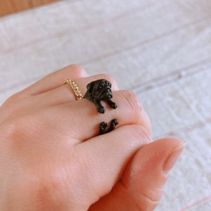TOPANGA Accessories パグリング ブラック|abracadabra