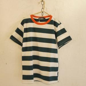 TOPANGA fashion BIGボーダーTシャツ グリーン|abracadabra