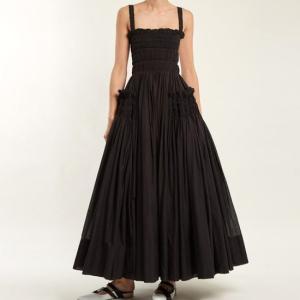 Topanga Fashion ティアードブラックドレス|abracadabra