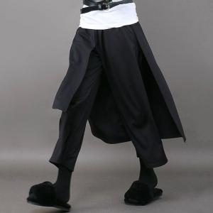 Topanga Fashion ブラックレイヤードパンツ abracadabra