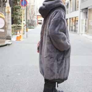 Topanga Fashion ボリュームファーパーカーコート グレー|abracadabra