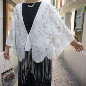 Topanga Fashion ビーズタッセルシフォンブラウス|abracadabra