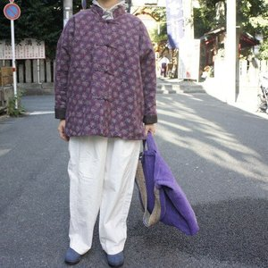 Topanga Fashion 小花キルトカンフージャケット パープル|abracadabra