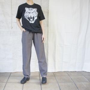 Topanga Fashion コットンリネンカンフーパンツ チャコール|abracadabra