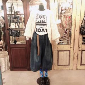Topanga Fashion アラジンベルト付デニム|abracadabra