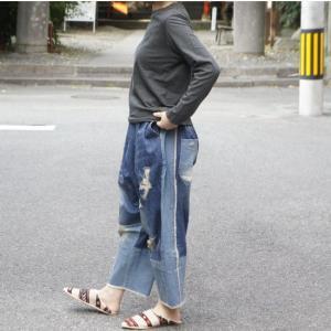 Topanga Fashion パッチワークデニム|abracadabra
