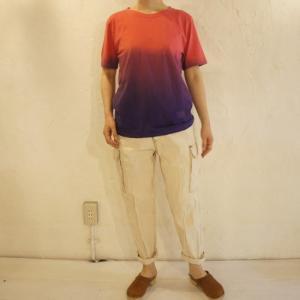 TOPANGA fashion グラデーションTシャツ パープル|abracadabra