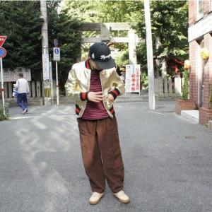 Topanga Fashion シャイニーレザースタジャン ゴールド|abracadabra